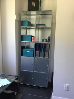 Galvanized Qbo Steel Cube Home Library The Container Store