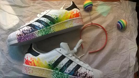 adidas superstar rainbow greece