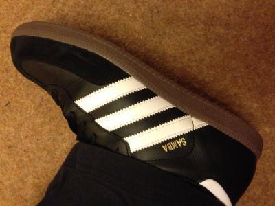 Adidas Samba on Feet Adidas Samba Shoes Black
