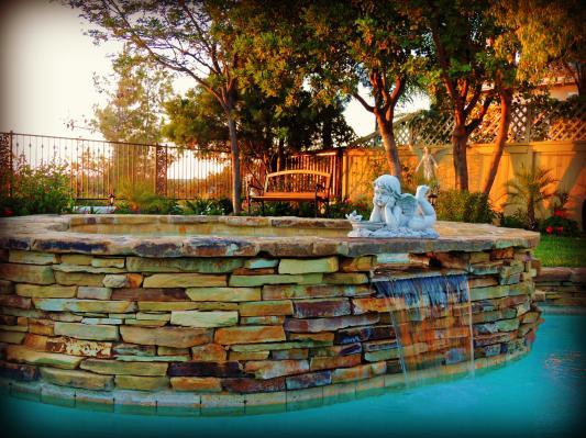 Summertime Reflections Cherub Garden Statue