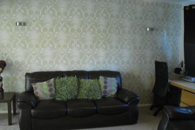 Wallpaper Designs For Living Room In Pune Beatrice Damask Olive