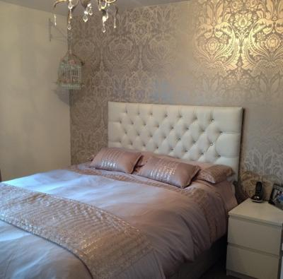 Bedroom themes for women ask home design for Bedroom wallpaper designs b q