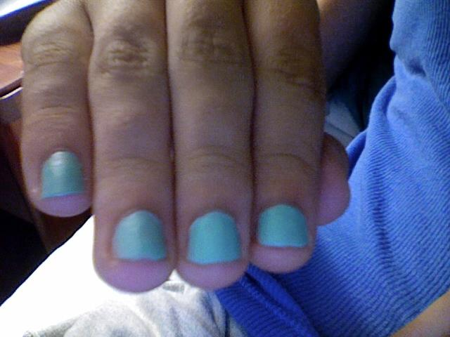 Matte Finisher over Mint Cream