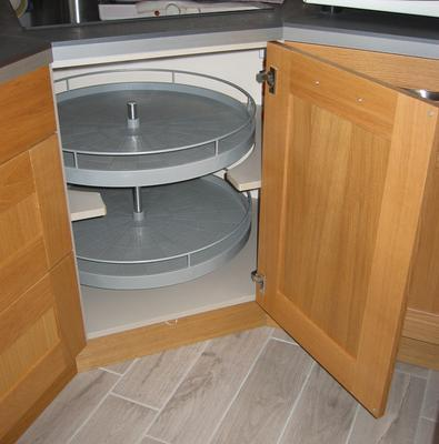 Tourniquet 2 paniers pour meuble d 39 angle bas delinia - Meuble bas angle cuisine leroy merlin ...