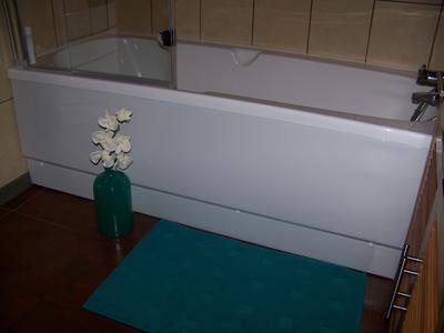 Tablier de baignoire cm blanc nere access leroy merlin - Entourage de baignoire ...