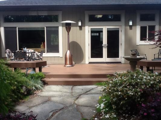 Garden View of Great Room Exterior and Milgard Products
