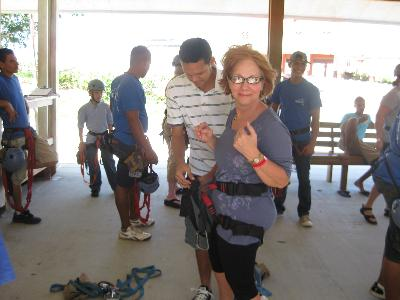Roatan Honduras zip line prep