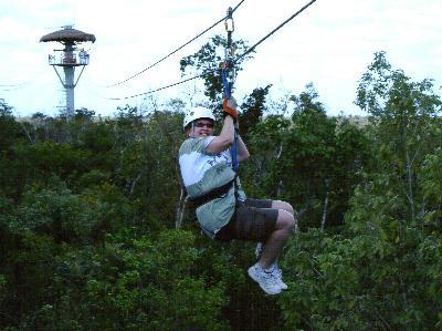 zip line in Costa Maya