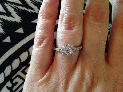 Rated 4 Out Of 5 By Kdot Sparkly, Lots Of Compliments Great Value For A Bridal  Set! Center Diamond Is Small But Appears Bigger March 25, 2015