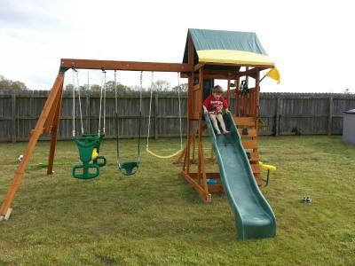 cedar summit brookridge cedar wooden play swing set 3