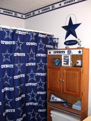 Dallas Cowboys Decorative Bath Collection Polyester Shower