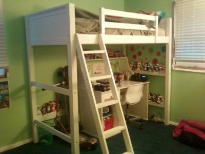 zone zzz loft bed white 1