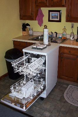 small apartment dishwasher via