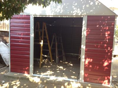 Arrow Red Barn High Gambrel Steel Shed 10x14 Walmart Com