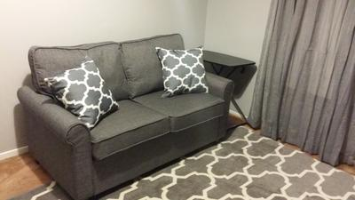Tremendous Mainstays Sofa Sleeper With Memory Foam Mattress Grey Theyellowbook Wood Chair Design Ideas Theyellowbookinfo