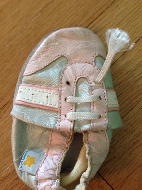Ministar Infant Girls' Tiny Flowe Shoe - Pink Xl