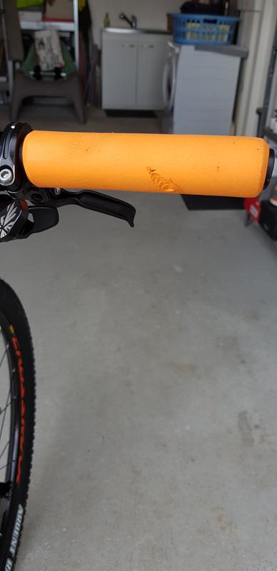 ESI Mountain Bike Guidon Grips Chunky Orange Silicone mousse