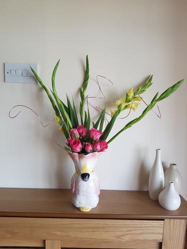 Parrot Shaped Vase Pink Home Garden George