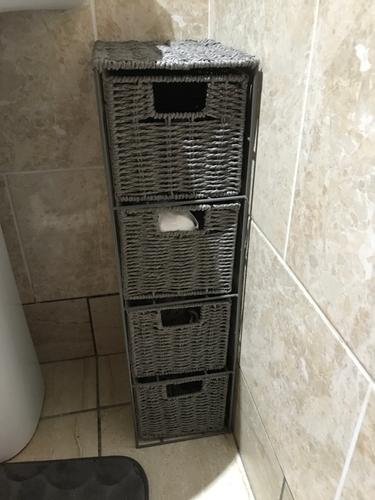 Customer Photos Of Grey Woven 4 Drawer Unit