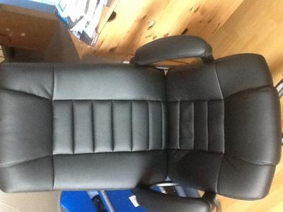 Bol tectake luxe design bureaustoel zwart
