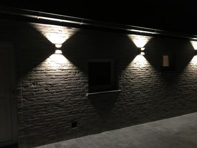 Eglo morino buitenverlichting wandlamp 2 lichts led antraciet - Buitenverlichting gevelhuis ...
