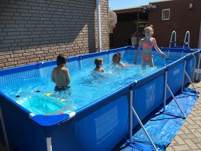 Intex frame pool 450 x 220 x 84 cm zwembad for Zwembad intex te koop