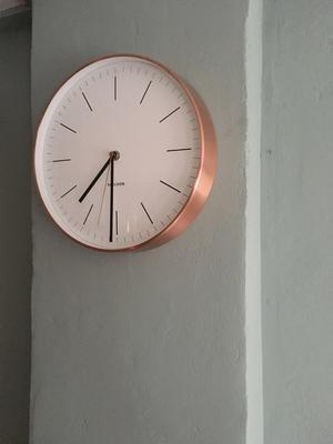 bol.com | Karlsson Minimal White - Klok - Rond - Metaal - Ø27.5 cm ...