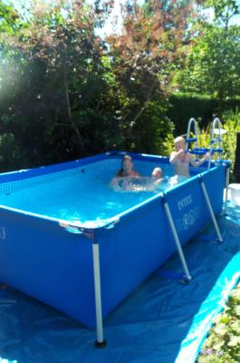 Intex pool ladder 91cm grijs intex speelgoed for Intex zwembad grijs