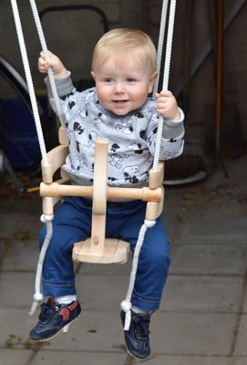 Houten Schommel Baby 1 Jaar.Houten Schommel Paard Extra Hoog