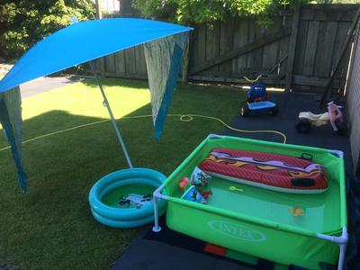 Intex mini frame pool zwembad 122 x 122 cm for Zwembad vierkant intex