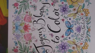 Reviews Joyous Blooms To Color