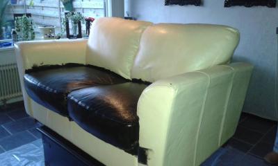 Leren bank verven ervaringen ochtend schoonmaakwerk - Bed na capitonne zwarte ...