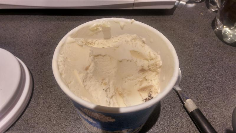 """""""Cookie Dough"""" Ice cream (oh, maybe a bit in the bottom right"""