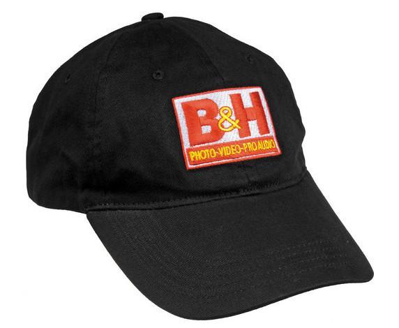 26ea46812547f6 B&H Photo Video Logo Baseball Cap (Black) BH-CAP-B B&H Photo