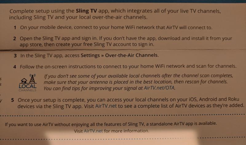 Sling AirTV