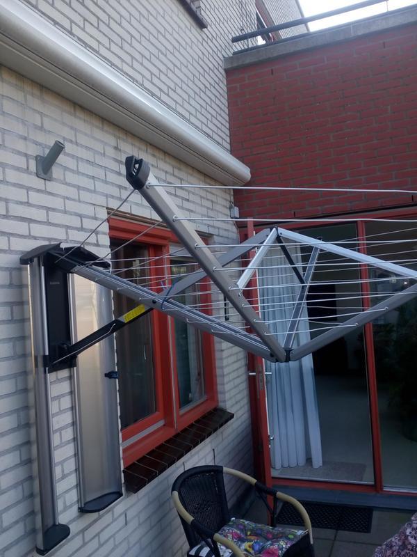 Droogmolen Aan De Muur.Wallfix 24 Meter Met Beschermhoes Metallic Grey