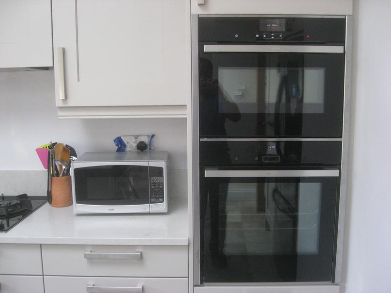 Combi Oven Stacked Above Steam Injection With Slide And Hide Door