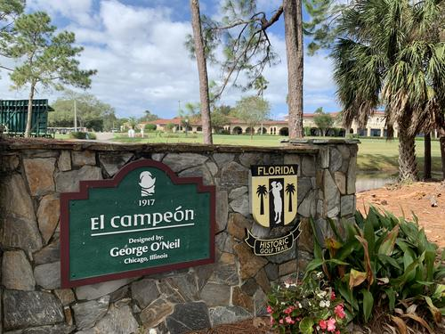 Gate at the start of El Campeon