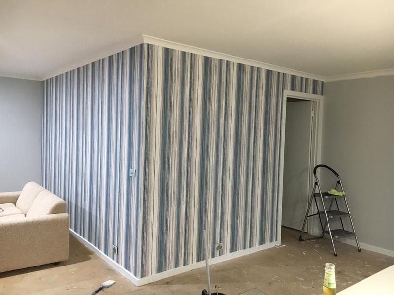 Chelsea Stripe Night Sky Wallpaper - GrahamBrownROW