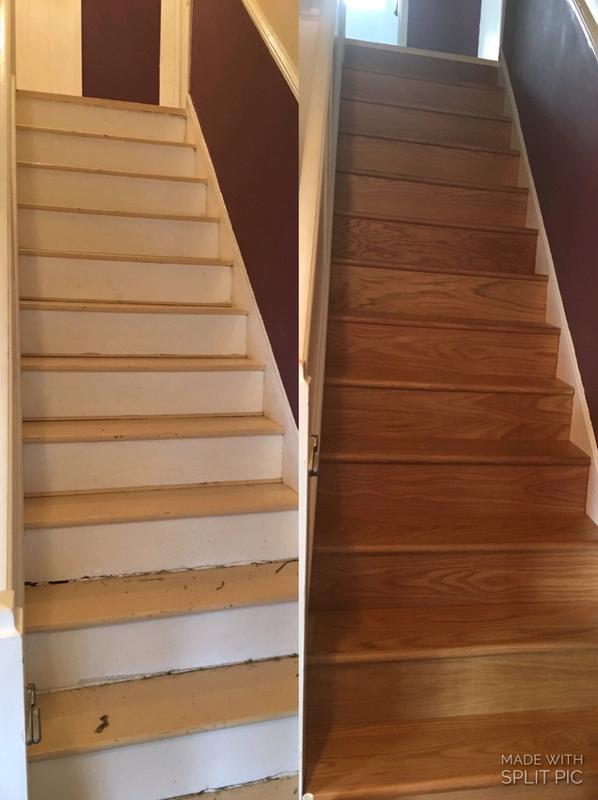 Stair Klad Oak Veneer Flooring Tread Riser Kit - Photos Freezer and