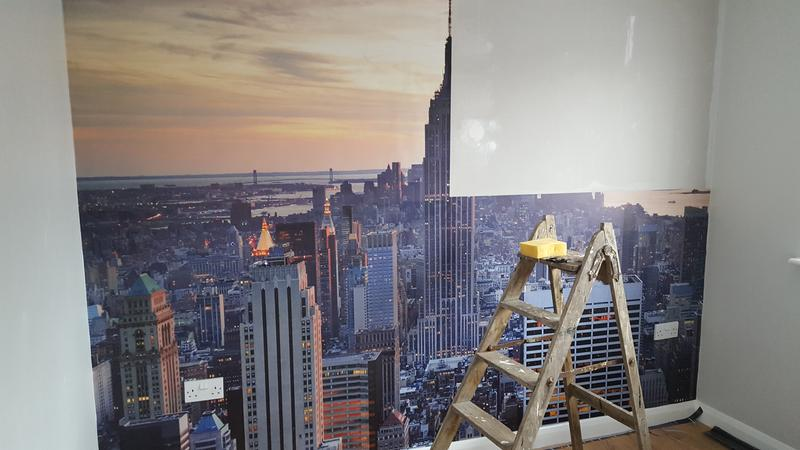New York Skyline Wallpaper Mural Diy At B Q