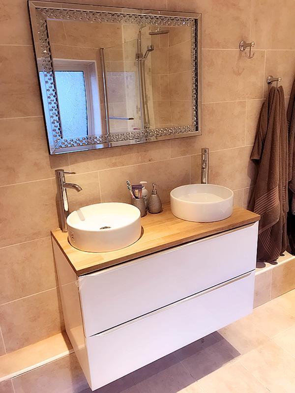 Goodhome Imandra Gloss White Vanity Basin Cabinet W 1200mm H 600mm Departments Diy At B Q