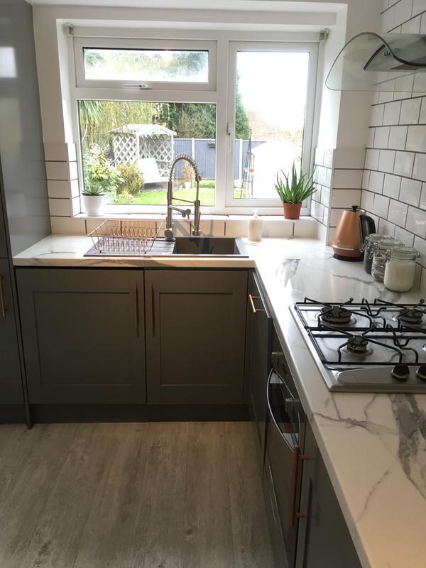 38mm Marble Veneto Brown Granite Effect Laminate Round Edge Kitchen Worktop L 3000mm Diy At B Q