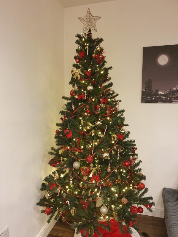 84 Woodland Pine Artificial Christmas Tree Departments Diy At B Q