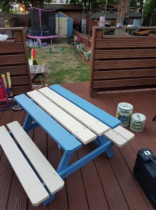 Rockall Wooden 4 Seater Kids Picnic Table Departments Diy At Bq