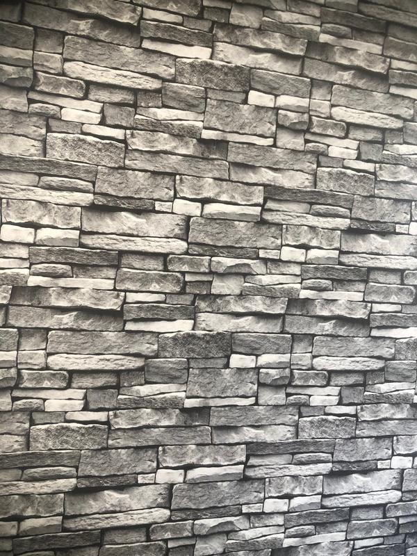 Arrou Grey Brick Smooth Wallpaper Diy At B Q