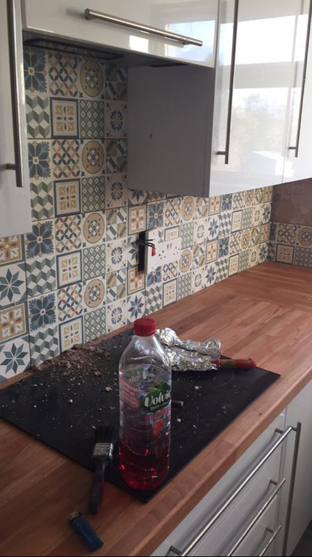 Konkrete Multicolor Matt Ceramic Wall Tile Pack Of 14 L500mm W