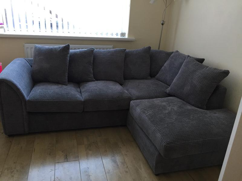 Denver Grey Right Hand Corner Sofa Dunelm