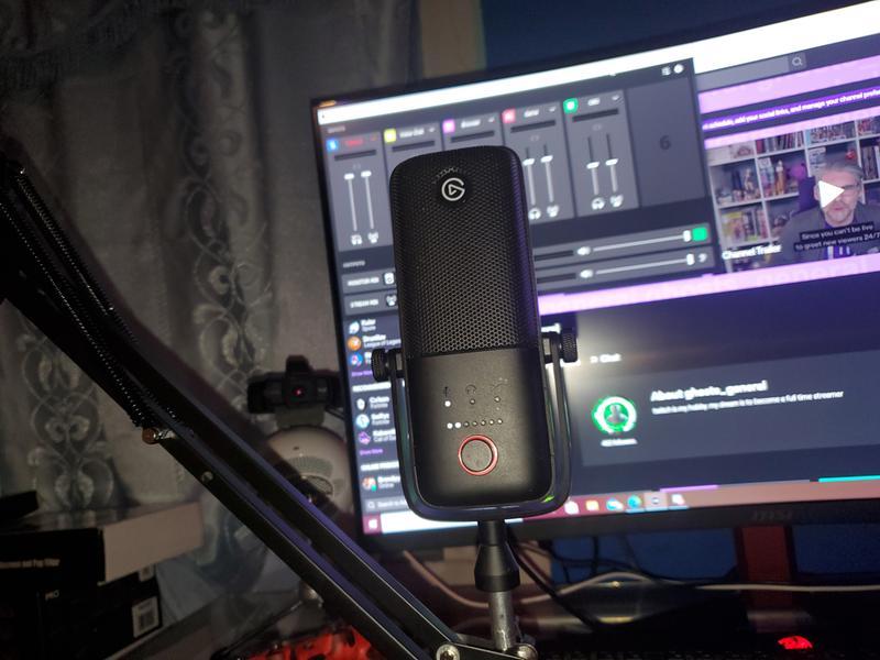 Sensor T/áctil de Muteo Tecnolog/ía Antisaturaci/ón Streaming y Podcasting Elgato Wave:3 Micr/ófono Condensador USB de Calidad y Soluci/ón de Mezcla Digital