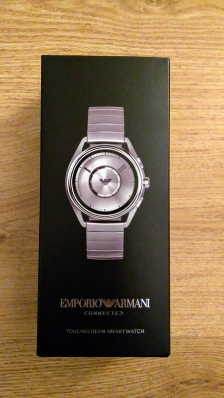 0d29dd5b9 Emporio Armani Full Display Olive Green Dial Black Leather Strap ...
